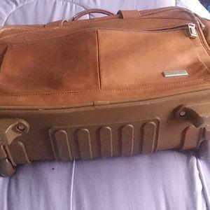 U.S.Luggage New York leather bag 18x13x8 $75